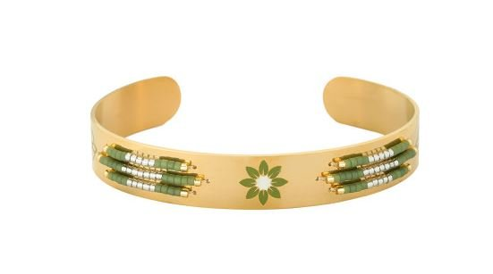 Armband Spring Beads gold stainless