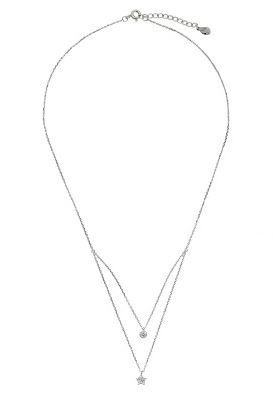 Ketting Tiny Star & Round 925 zilver