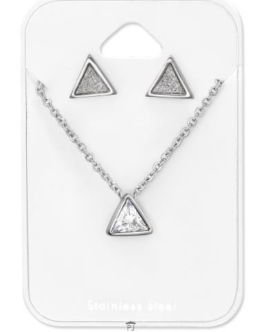 Ketting Triangle stainless steel & studs