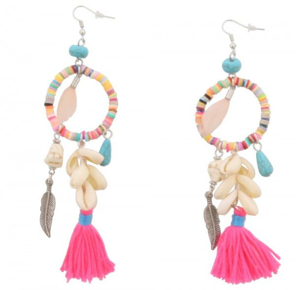 Oorbellen Ibiza multi-Beads & Shells
