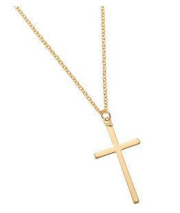 Ketting Cross gold plated