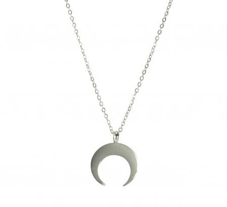 Ketting zilver Moon stainless steel