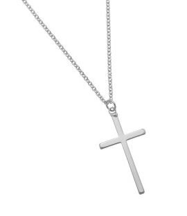 Ketting Cross silver plated