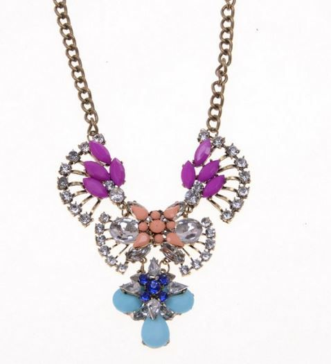 Ketting Shourouk style multicolor