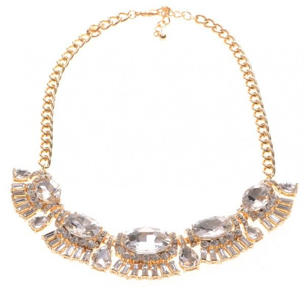 Ketting exclusief goud-strass