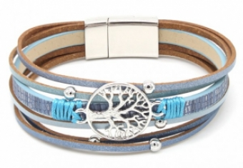 Armband Ibiza Tree of Life blauw