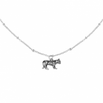 Ketting Tiger silver plated
