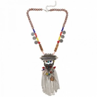 Ketting Boho Tibet multicolor
