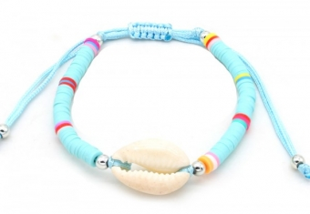 Armband Beach style Schelp turquoise