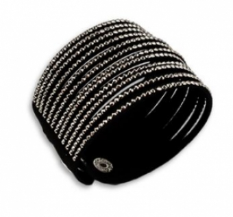 Armband breed strass zwart