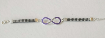 Armband Infinity paars-strass 2