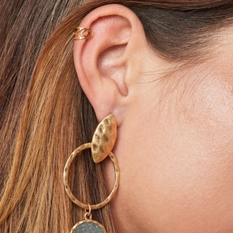 Earcuff Fantasy stainless steel goud