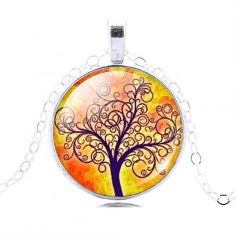 Ketting cabochon Tree of Life 4