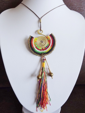 Ketting lang Ibiza Originals multicolor