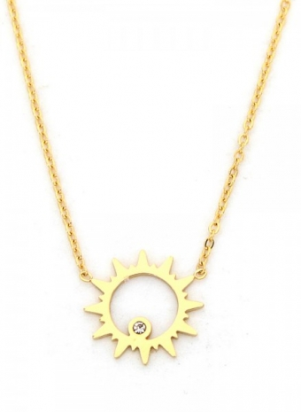 Ketting Zon stainless steel goud