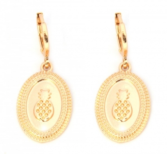 Oorbellen Hoops & Oval Pineapple goud